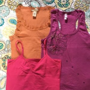 Lot of 3 sleep tank tops, sz L